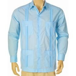 Classic Long Sleeve Guayabera in Poly/Cotton Blend