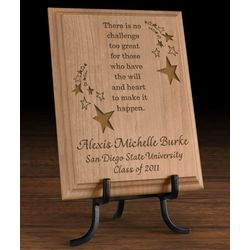 Personalized Make It Happen Wooden Plaque
