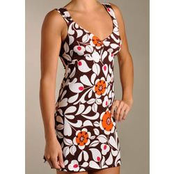 Jourdana Brown Stencil Chemise Dress