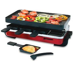 8 Person Red Classic Raclette Party Grill