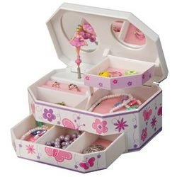 Butterfly and Ballerina Music Jewelry Box