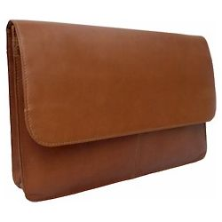 Three-Section Flap Leather Portfolio