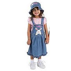 Personalized Denim Bunny Dress