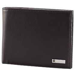 Black Barcelona Leather Bi-Fold Wallet