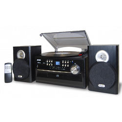 3-Speed Turntable with CD and AM/FM Stereo Radio