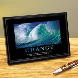 Change Wave Framed Desktop Print