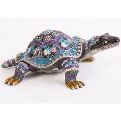 Amazing Azure Turtle Crystal Trinket Box