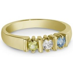 Mother's 14 Karat Gold-Plate Birthstone Ring