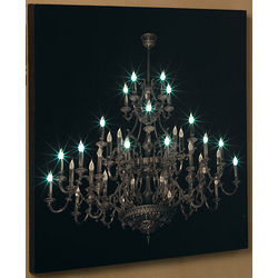 LED Chandelier Canvas Print