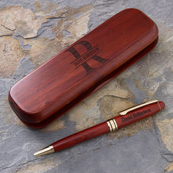 Namely Yours Personalized Rosewood Pen Set