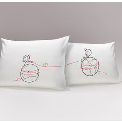 You're Worth Every Mile His & Hers Matching Couple Pillowcases
