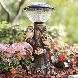 Owl Family Solar Light