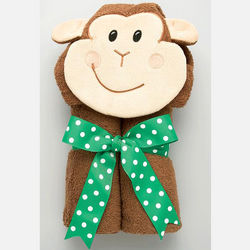 Monkey Design Hooded Towel