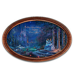 Disney Cinderella Collector Plate with 2 Personalized Names