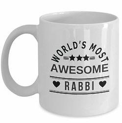 World's Most Awesome Rabbi Coffee Mug