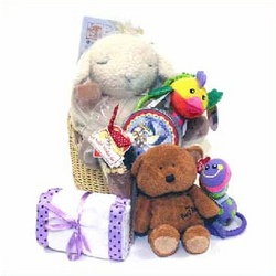 The Sleeping Sheep Deluxe Baby Basket