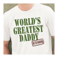 Personalized Worlds Greatest Dad in Training T-Shirt