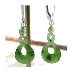 Eternity Double Loop Jade Earrings