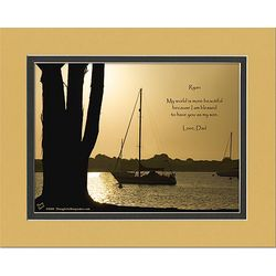 Son Poem Personalized Boat Silhouette Print