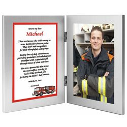 Firefighter Hero Frame with Personalized Poem