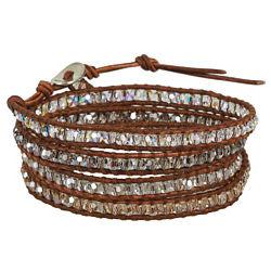 Crystal Mix Wrap Bracelet
