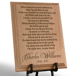Personalized When Tomorrow Starts Wooden Plaque