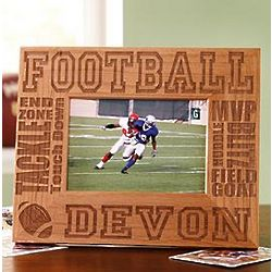 Personalized Wood Sports 5x7 Photo Frame