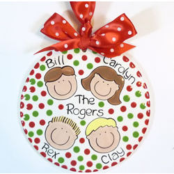 Family Faces Personalized Round Ornament