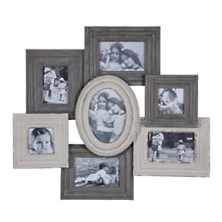 Gray and Cream Collage Photo Frame