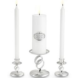 Double Rings Unity Candle Set