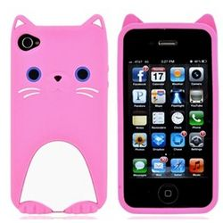 iPhone 4 Cat Silicone Case