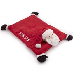 Embroidered Name Santa Baby Belly Mat