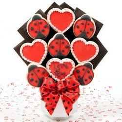 Love Bug Cookie Bouquet