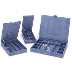 Faux Suede Stackable Jewelry Cases