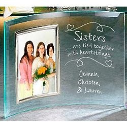 Personalized Sisters Heartstrings Frame