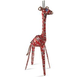 Red Coca-Cola Cans Giraffe Sculpture