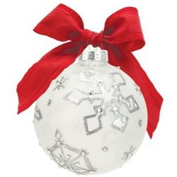 Silver Snowflake Too Ornament