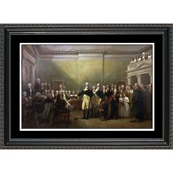 Washington Resigns His Commission Framed Print