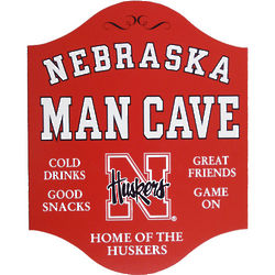 Nebraska Huskers Personalized Fan Cave Sign