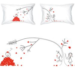 Love You Madly His & Hers Matching Couple Pillowcases