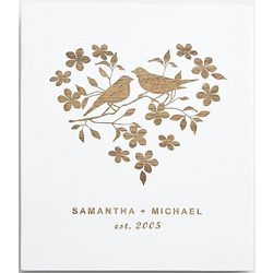 Personalized Love Birds Wooden Wall Art