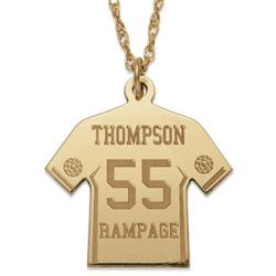Gold-Plated Personalized Soccer Jersey Necklace