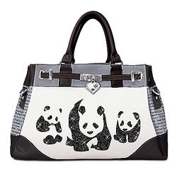 Panda Glamour Handbag with Adjustable Detachable Strap