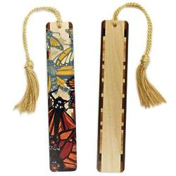 Monarch Butterfly Wood Bookmark with Tassel