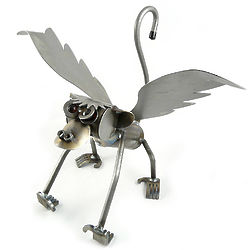 Flying Monkey Metal Sculpture