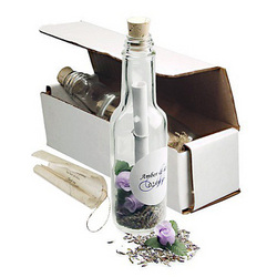Lavender Seeds Message in a Bottle