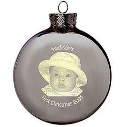 Laser Light Photo Christmas Ornament