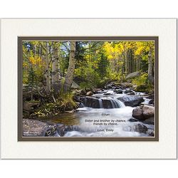 Personalized River in Autumn Print with Brother Poem