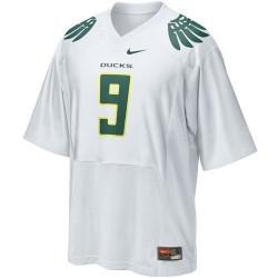 Oregon Ducks #9 Preschool White Replica Football Jersey