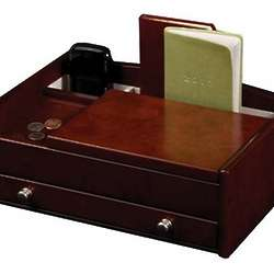 Men's Dresser Top Valet Jewelry Box Organizer